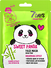 Kup Maska do twarzy Słodka panda - 7 Days Animal Sweet Panda