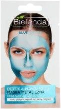 Kup Maska metaliczna do cery suchej i wrażliwej Detox & Nawilżenie - Bielenda Blue Detox
