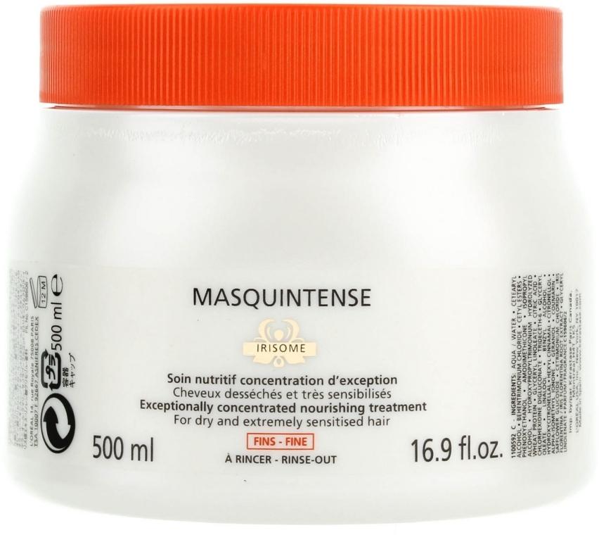Odżywcza maska do włosów cienkich, suchych i ekstremalnie uwrażliwionych - Kérastase Nutritive Masquintense Irisome