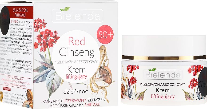Przeciwzmarszczkowy krem liftingujący do twarzy na dzień i noc 50+ Czerwony żeń-szeń - Bielenda Red Ginseng Lifting Cream 50+