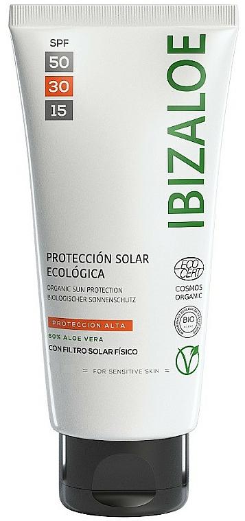Masło do ciała do opalania - Ibizaloe Organic Sun Protection SPF 30 — фото N1