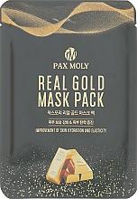 Kup Nawilżająca maseczka ujędrniająca w płachcie do twarzy - Pax Moly Real Gold Mask Pack