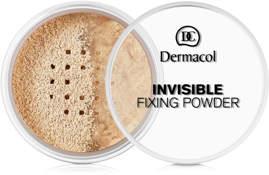 Uniwersalny puder transparentny utrwalający makijaż - Dermacol Invisible Fixing Powder