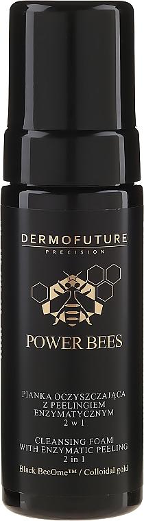 Oczyszczająca pianka z peelingiem enzymatycznym 2 w 1 do twarzy - DermoFuture Power Bees