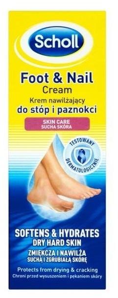 Nawilżający krem do stóp i paznokci - Scholl Moisturizing Foot And Nail Cream