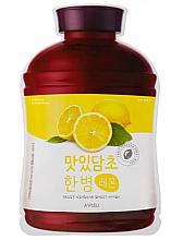 Kup Odżywczo-złuszczająca maska na tkaninie do twarzy z ekstrakem z cytryny - A'pieu Fruit Vinegar Sheet Mask Lemon