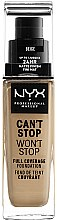 Kup Podkład do twarzy - NYX Professional Makeup Can't Stop Won't Stop Full Coverage Foundation