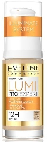 Rozświetlający podkład do twarzy - Eveline Cosmetics Lumi Pro Expert SPF 10