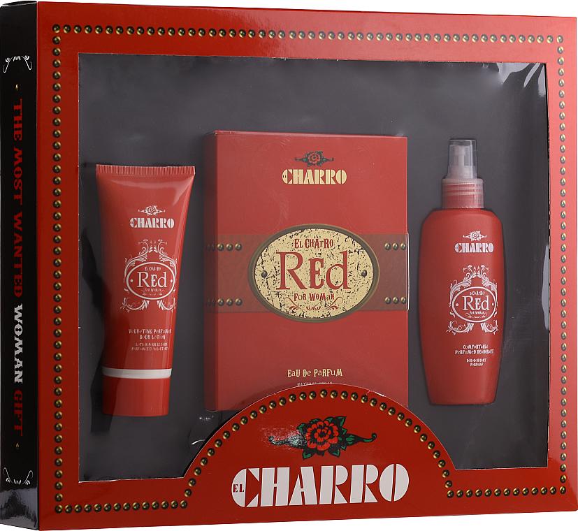 PRZECENA! El Charro Red - Zestaw (edp 100 ml + b/cr 100 ml + deo 100 ml) * — фото N1