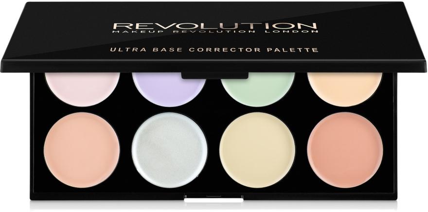 Paletka korektorów do twarzy - Makeup Revolution Ultra Base Corrector Palette — фото N1