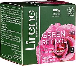 Kup Odbudowujący krem do twarzy na noc 70+ - Lirene Green Retinol Rebuilding Night Cream