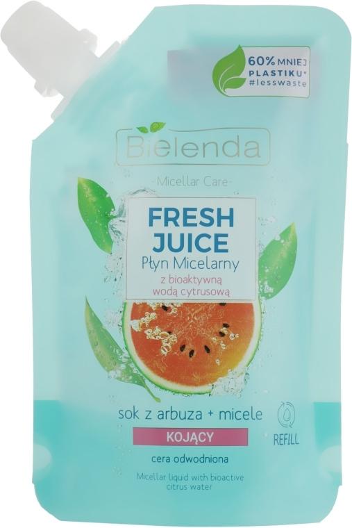 Kojący płyn micelarny do cery odwodnionej Arbuz - Bielenda Fresh Juice Detoxifying Face Micellar Water Watermelon