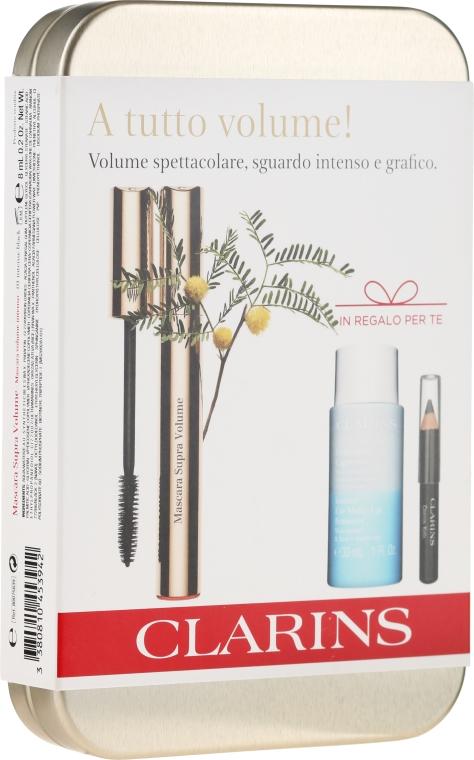 Zestaw do makijażu oka - Clarins (mascara/8ml + eye/pencil/0.39g + makeup/remover/30ml) — фото N1