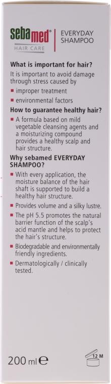 Delikatny szampon do włosów normalnych i suchych - Sebamed Classic Everyday Shampoo — фото N2