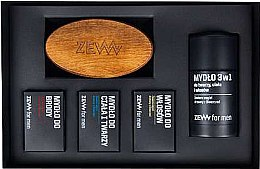 Kup Zestaw - Zew The Bearded Man's Holiday Set (4 x soap 85 ml + brush)