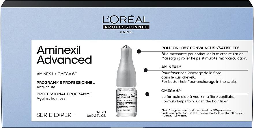 Zaawansowana kuracja hamująca wypadanie włosów - L'Oreal Professionnel Aminexil Advanced New