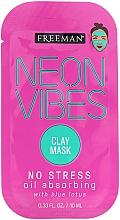 Kup Kojąca maseczka do twarzy - Freeman Beauty Neon Vibes No Stress Oil Absorbing Clay Mask