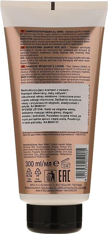 Regenerujący szampon do włosów - Brelil Numero Brelil Numero Restructuring Shampoo with Oats — фото N2