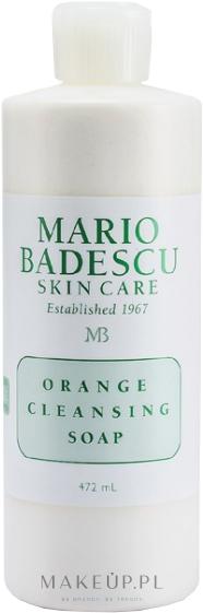 Oczyszczające mydło pomarańczowe do mycia twarzy - Mario Badescu Orange Cleansing Soap — фото 472 ml