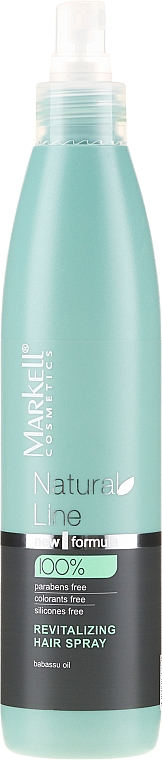 Rewitalizujący spray do włosów - Markell Cosmetics Natural Line Revitalizing Hair Spray — фото N1