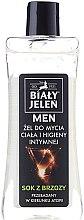 Kup Hipoalergiczny żel 2 w 1 do mycia ciała i higieny intymnej dla mężczyzn Sok z brzozy - Biały Jeleń Man