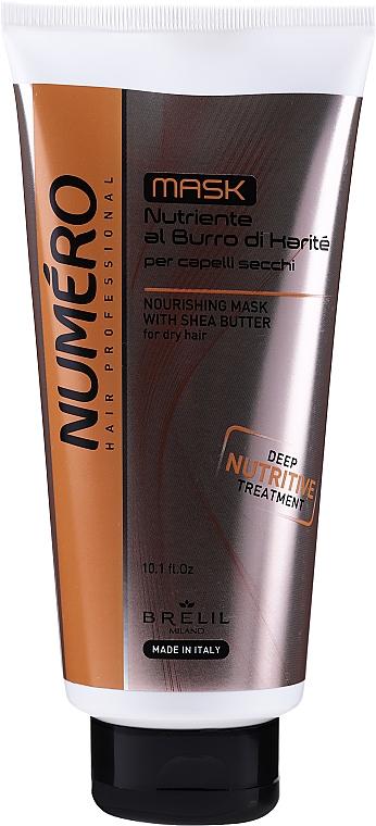 Kremowa maska nawilżająca do włosów Masło shea - Brelil Numero Nourishing Cream With Shea Butter
