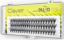 Kup Kępki sztucznych rzęs Podwójna ilość, 12 mm - Clavier DU2O Double Volume