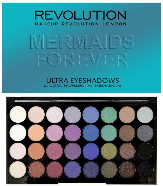 Paleta cieni do powiek - Makeup Revolution Ultra 32 Shade Palette Mermaids Forever