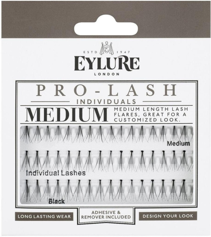 Kępki rzęs - Eylure Black Individual Pro Medium Length Lashes — фото N1