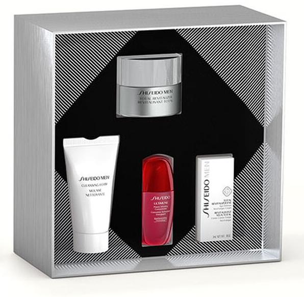 Zestaw - Shiseido Men Total Revitalizer Holiday Kit (cr/50ml + foam/30ml + cr/10ml + eye/cond/3ml) — фото N2