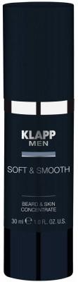 Zmiękczająco-wygładzający koncentrat do twarzy i brody dla mężczyzn - Klapp Men Shape & Smooth Global Gel — фото N1
