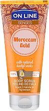 Kup Peeling do ciała z olejami arganowym i marula i ekstraktem z figi - On Line Senses Moroccan Gold