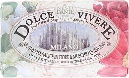 Kup Naturalne mydło w kostce Konwalia, wierzba i mąkla tarniowa - Nesti Dante Dolce Vivere Milano