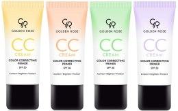 Kup Korygujący krem CC do twarzy - Golden Rose CC Cream Color Correcting Primer SPF 30