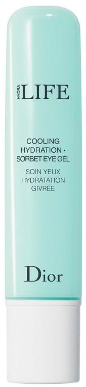 Chłodząco-nawilżający żel-sorbet do skóry wokół oczu - Dior Hydra Life Cooling Hydration Sorbet Eye Gel