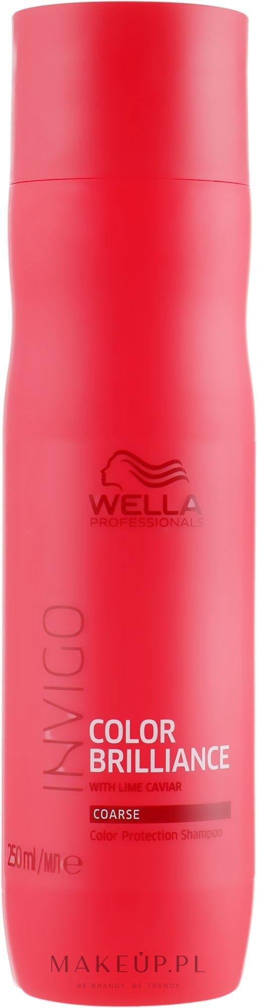 Szampon chroniący kolor farbowanych włosów grubych - Wella Professionals Invigo Color Brilliance Coarse Shampoo  — фото 250 ml