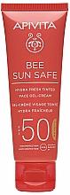 Kup Nawilżający krem ochronny w żelu SPF 50 - Apivita Bee Sun Safe Hydra Fresh Tinted Face Gel-Cream SPF50