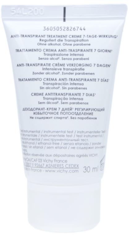 Antyperspirant w kremie przeciw intensywnemu poceniu - Vichy 7 Day — фото N3
