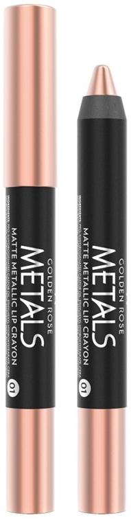 Metaliczna kredka do ust - Golden Rose Metals Matte Metallic Lip Crayon