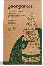 Kup PRZECENA! Miętowe tabletki do płukania jamy ustnej - Georganics Mouthwash Tablets Spearmint Refill Pack (opakowanie uzupełniające) *