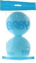 Kup Zestaw gąbek kąpielowych dla dzieci, błękitne, 2 szt. - Suavipiel Baby Soft Sponge