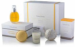 Kup PRZECENA! Zestaw - AromaWorks Serenity Body Indulgence Gift Set (bath/bomb 2 x 250 g + candle 75 g + b/oil 100 ml + flannel)*