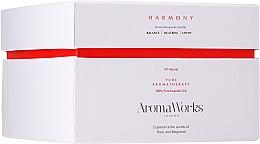 Kup Świeca zapachowa Świeca zapachowa Róża i bergamotka z trzema knotami - AromaWorks Harmony Candle 3-wick