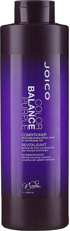 Fioletowa odżywka eliminująca miedziane i żółte tony włosów blond i siwych - Joico Color Balance Purple Conditioner — фото N1