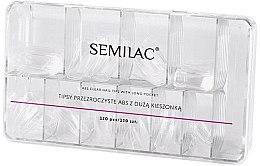 Kup Tipsy przezroczyste ABS z duża kieszonką - Semilac Tips Box Klar
