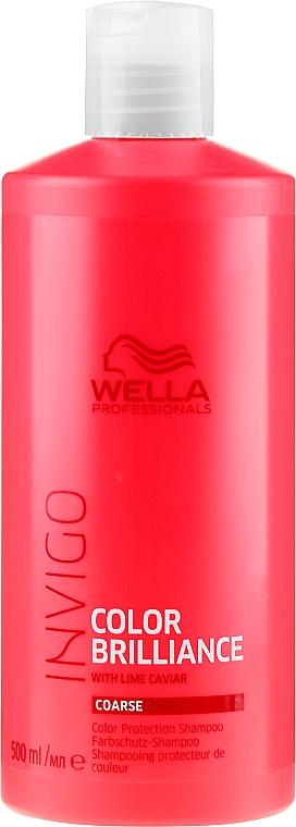 Szampon chroniący kolor farbowanych włosów grubych - Wella Professionals Invigo Color Brilliance Coarse Shampoo  — фото N3