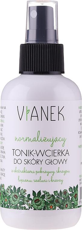 Normalizujący tonik-wcierka do skóry głowy - Vianek Seria zielona energetyzująca