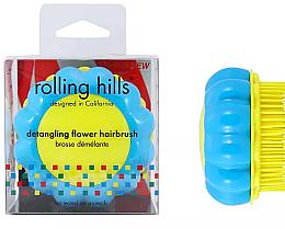 Kup Szczotka do włosów, niebiesko-żółta - Rolling Hills Brosse Desenredar Flower
