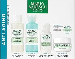 Kup Zestaw - Mario Badescu Anti-Aging Kit (cleanser 56 ml + toner 56 ml + cr 28 ml + mask 14 ml + eye/cr/mini)