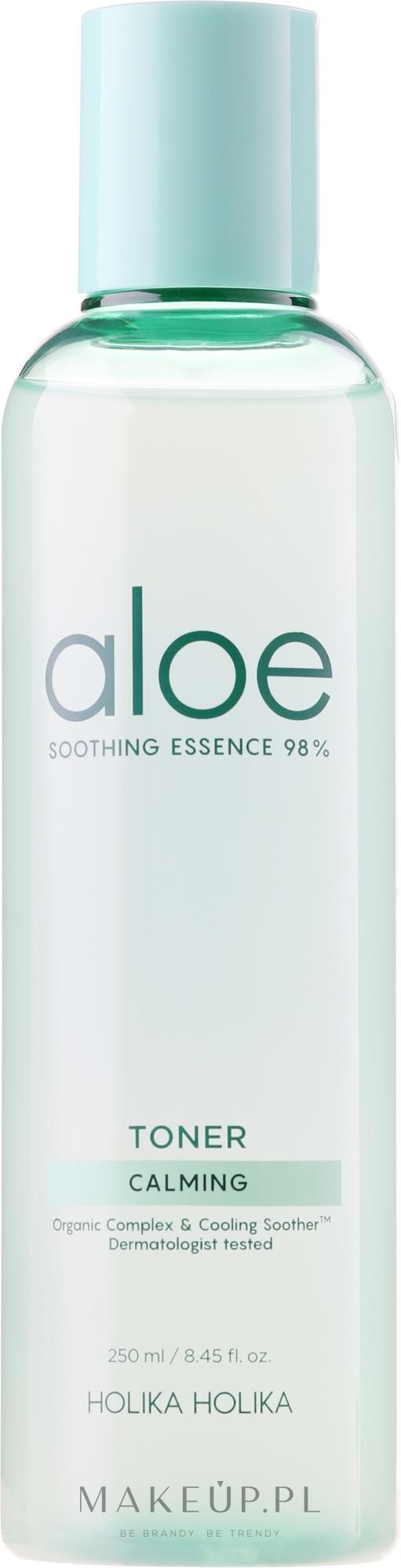 Kojący tonik do twarzy - Holika Holika Aloe Soothing Essence 98% Toner Calming — фото 250 ml